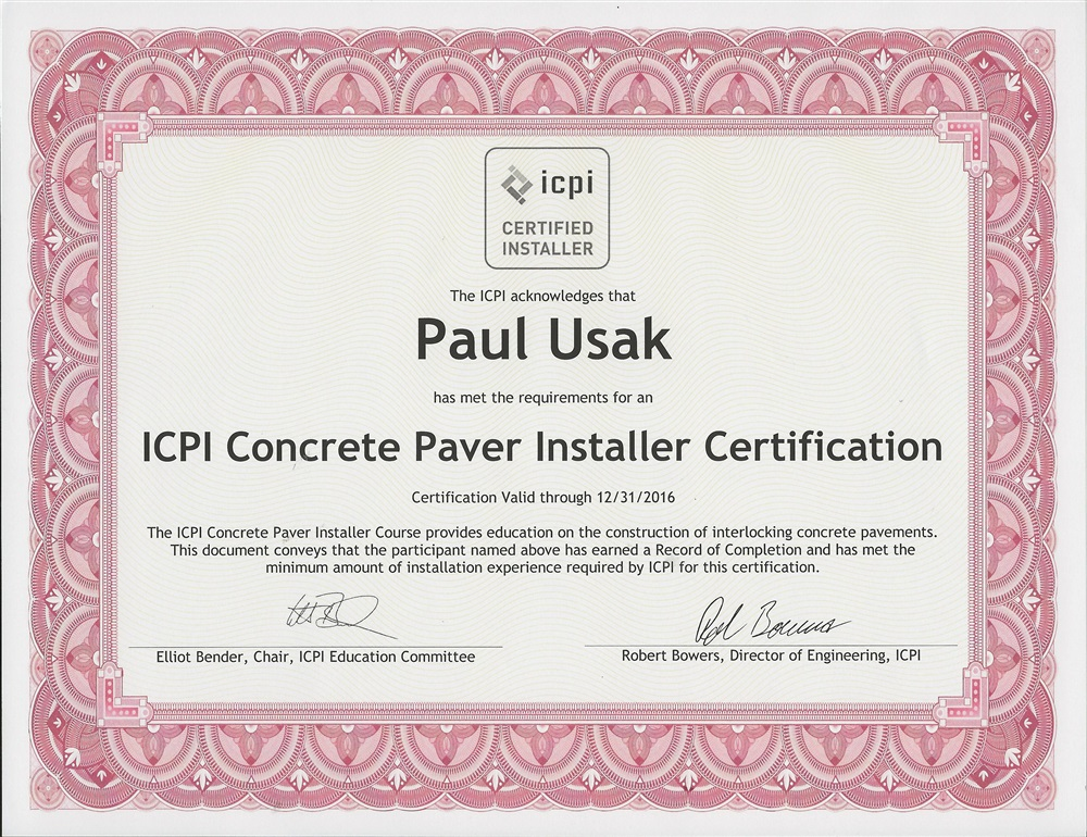 CNP Segmental Retaining Wall ICPI Permeable Paver Seal \'n Lock